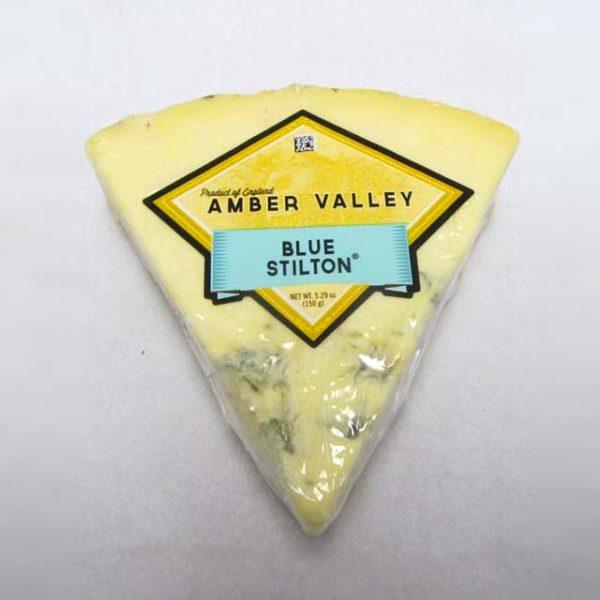 Wedge of Amber Valley Blue Stilton.