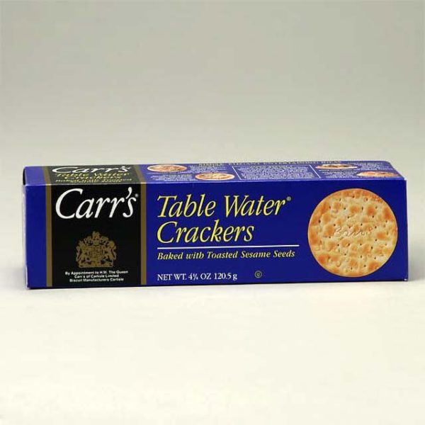 Box of Carr's Table Water Crackers
