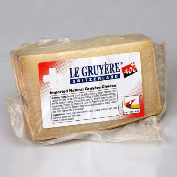 Wedge of Le Gruyere.