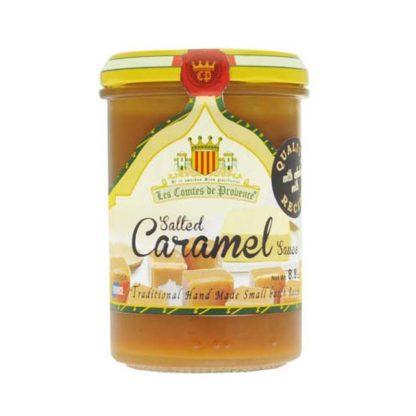 Jar of Salted Caramel sauce.