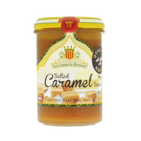 Jar of Salted Caramel sauce.