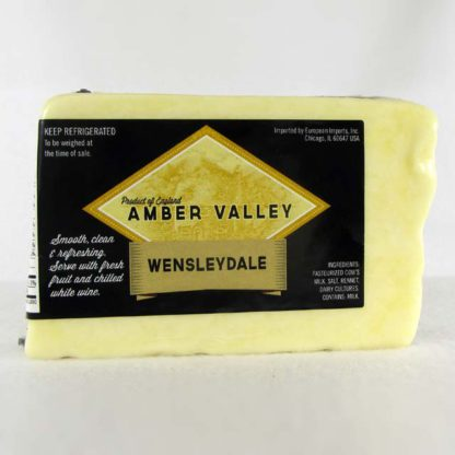 Wedge of Amber Valley Wensleydale.