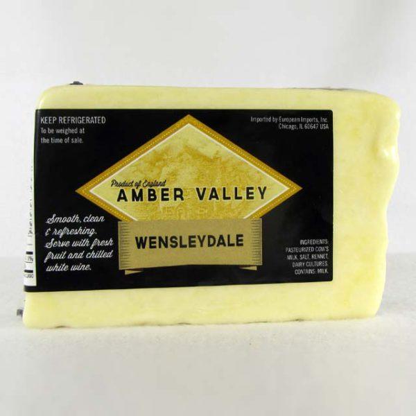 Wedge of Amber Valley Wensleydale.