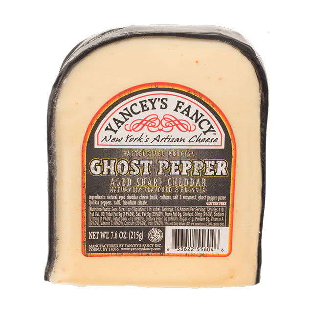 Ghost Pepper Aged Sharp Cheddar – Yancey's Fancy