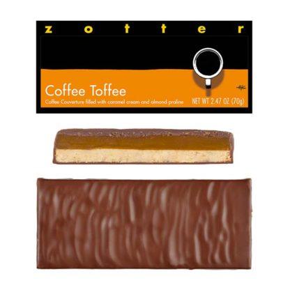 Zotter Coffee Toffee chocolate bar