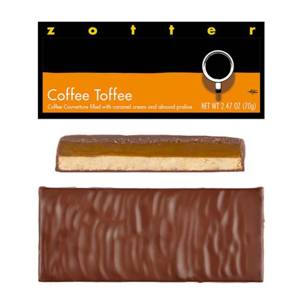 Zotter Coffee Toffee chocolate bar
