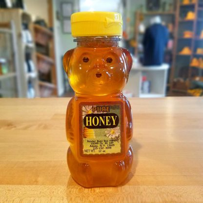 A squeeze bear bottle of Bender's Pure Honey.