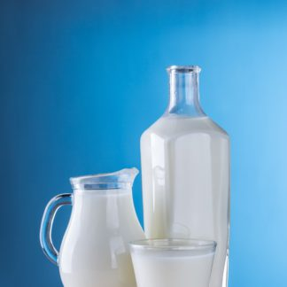 Containers of milk.