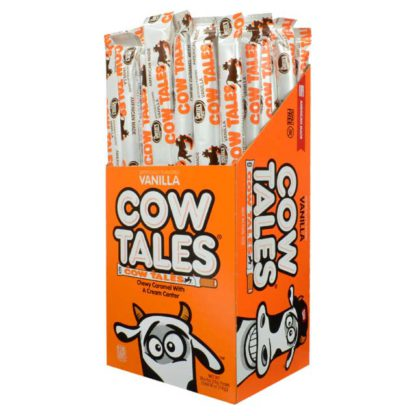 Box of Cow Tales Original Vanilla candies