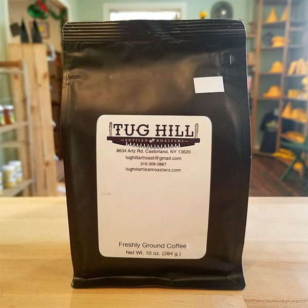 A bag of coffee from Tug Hill Artisan Roasters.