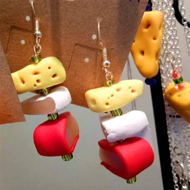 Cheesy earrings.