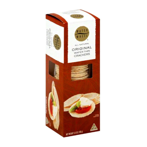 Package of Waterwheel Original Wafer Thin Crackers.