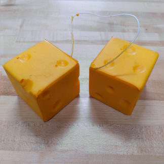 Original CheeseHead foam car dice.