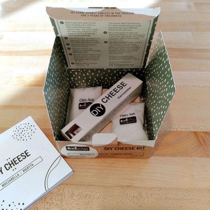 DIY Cheese Kit, opened box.