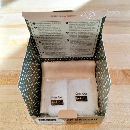 DIY Cheese Starter Kit, opened box.