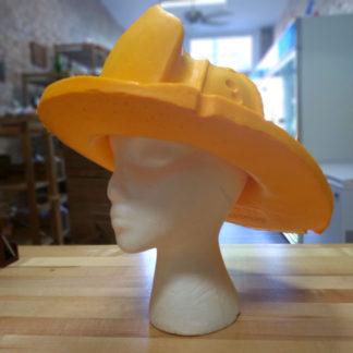 Original CheeseHead foam fire hat.