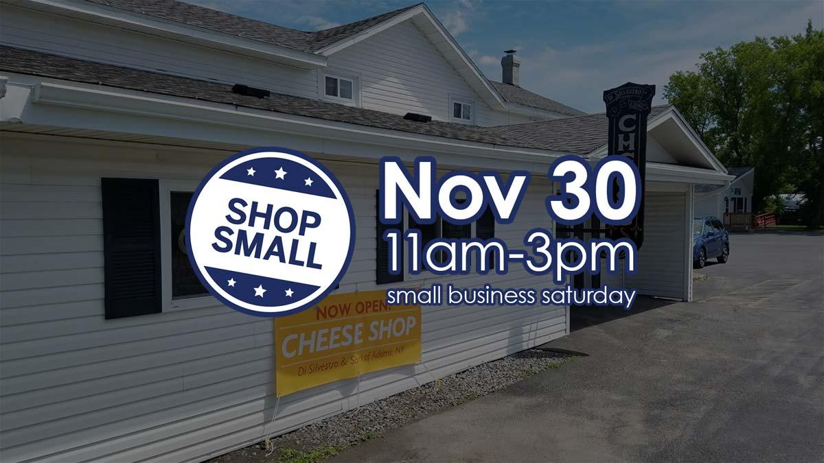 Nov. 30, 11am-3pm, Shop Small Saturday.