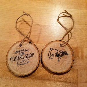 Rustic Di Silvestro & Sons Cheese Shop Wood Ornament