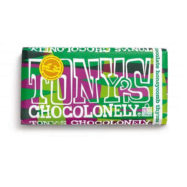 Milk Honeycomb Thyme 32% Chocolate Bar – Tony's Chocolonely