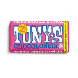 White Raspberry Popping Candy 28% Chocolate Bar (6.35 oz.) – Tony's Chocolonely