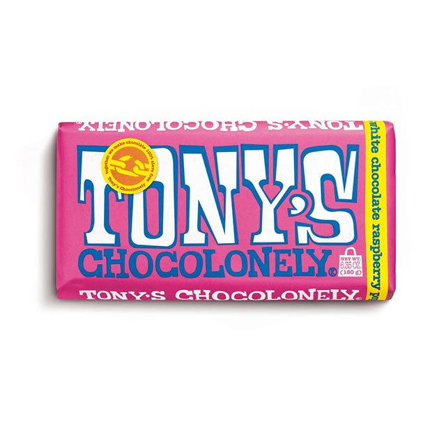 White Raspberry Popping Candy 28% Chocolate Bar – Tony's Chocolonely