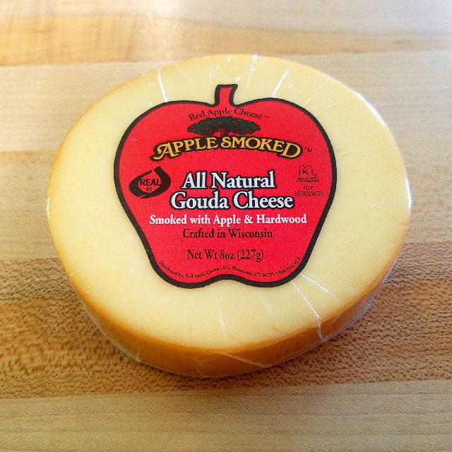 All Natural Gouda Cheese Smoked with Apple & Hardwood (8 oz.) – Red Apple Cheese