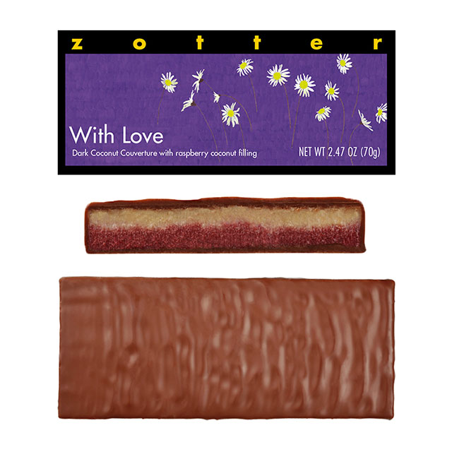Zotter With Love Hand-Scooped Chocolate Bar