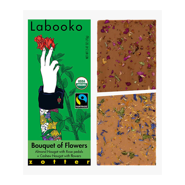 Zotter Bouquet of Flowers Labookoo Chocolate Bars