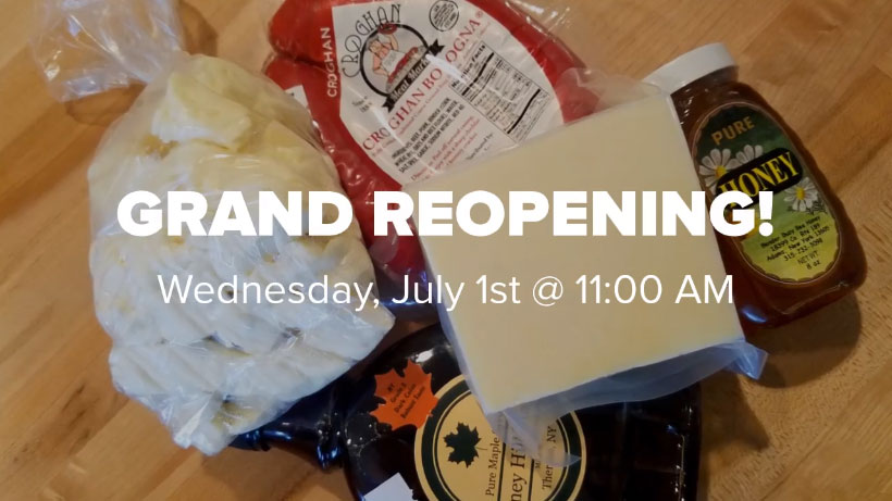 Grand Reopening Wednesday, July 1st @ 11:00 AM!
