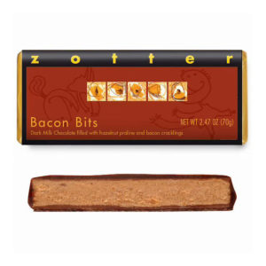 Zotter Bacon Bits Hand-Scooped Chocolate Bar (2.47 oz.)