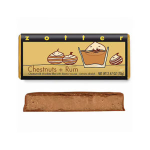 Zotter Chestnuts + Rum Hand-Scooped Chocolate Bar (2.47 oz.)