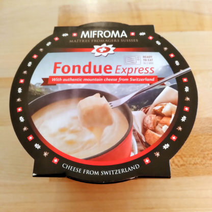 The top of a cup of Mifroma Fondue Express.