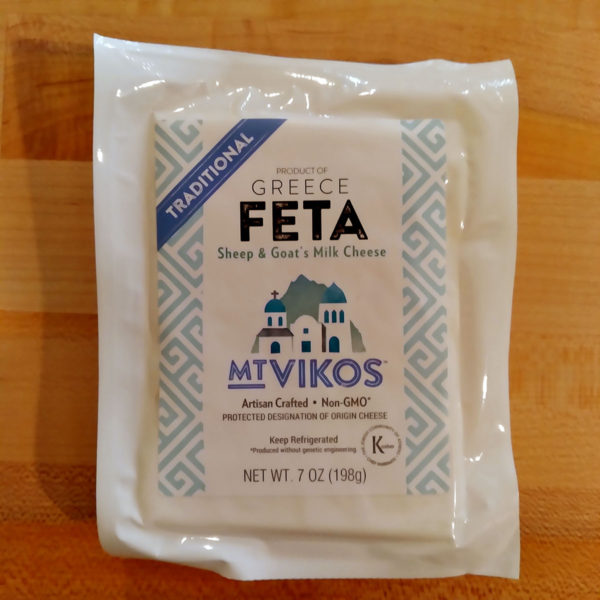 A package of Mt. Vikos Traditional Feta.