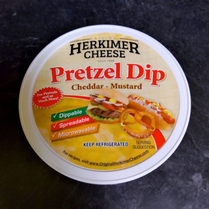 Container of Pretzel Dip.