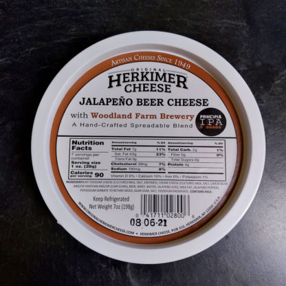 Container of Jalapeño Beer Cheese.