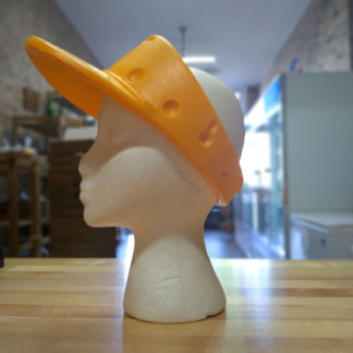 Original CheeseHead foam visor.