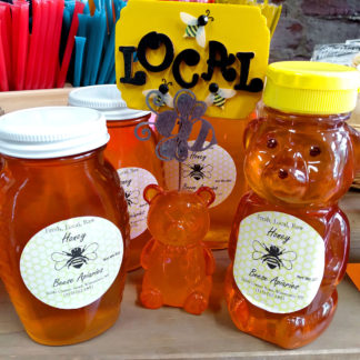 An assortment of Beese Apiaries Pure Honey.