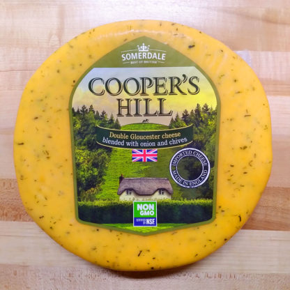 A wheel of Cooper's Hill cheese.