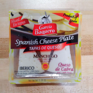 An unopened package of Spanish Cheese Plate.